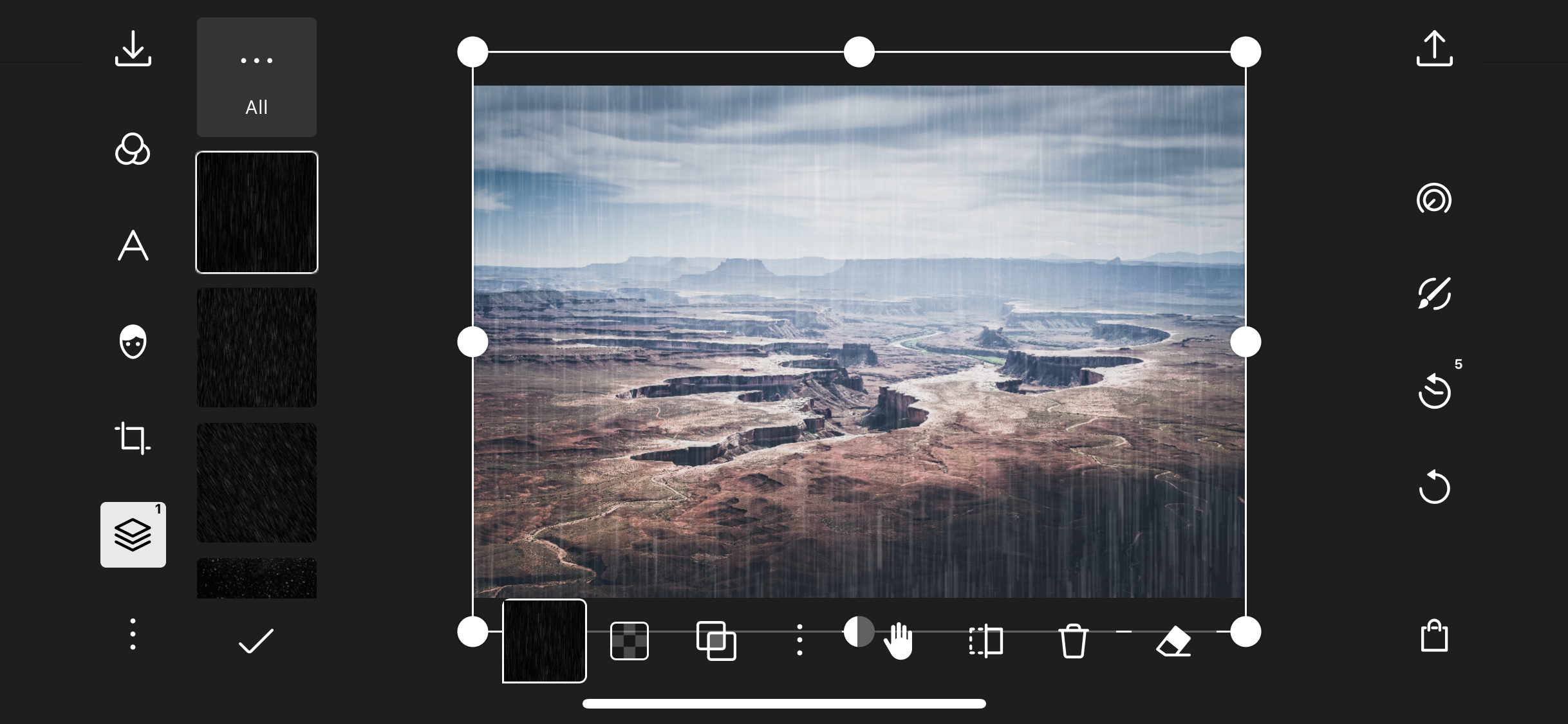 Easily add things like weather effects to your photos!